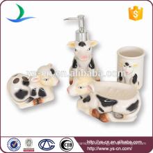 2014 Juego de baño de cerámica del bebé de la vaca encantadora de la leche