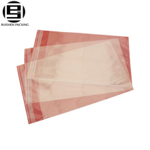 Transparent clear reclosable adhesive packing bag