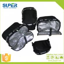 Fabricant de panier pique-nique en polyester de cadre en aluminium avec poignée (SP-312)