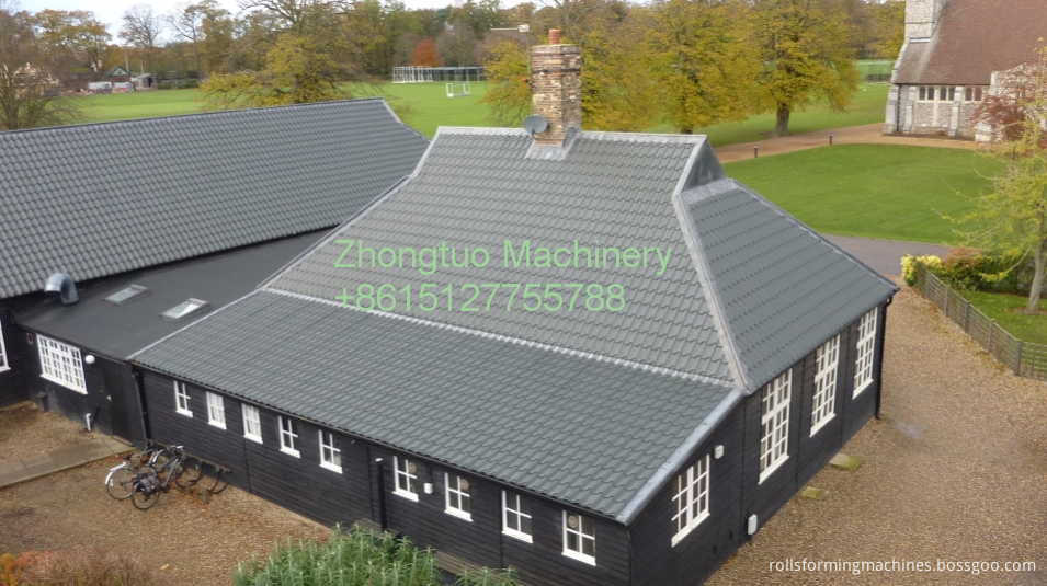 installation of glazed tile sheet