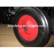 400x100 большие телеги колеса твердые резиновые шины