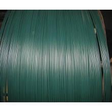 Grüner schwarzer PVC-beschichteter Draht / PVC-Eisen-Draht für die Herstellung von Drahtgewebe