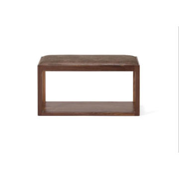 Massiv Walnut Trästol Bench Matsal