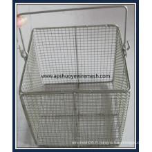 Panier médical de fil d'acier inoxydable pour le stérilisateur de laboratoire