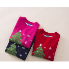hot sale Christmas wearing sweater/baby girls snow man cartoon sweater for kids