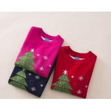 горячей продажи Рождественский свитер/девочки снежный человек свитер мультфильм для детей