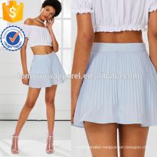 Pleated Split Front Skort Manufacture Wholesale Fashion Women Apparel (TA3017B)