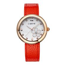 Relógios de pulso de aço inoxidável da mulher do movimento japonês do OEM dos fornecedores de China