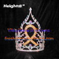 8inch Wholesale Crystal Rhinestones Pageant Ribbon Crowns