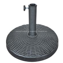 Plein air vente chaude ronde résine Base de parapluie