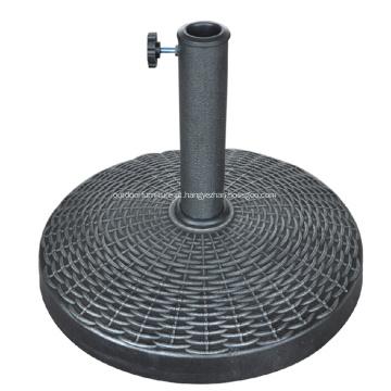 Venda quente exterior redonda Base de guarda-chuva de resina