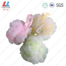 Silk mesh sponge mixture bath ball