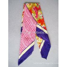 Fabricant d'écharpe en coton imprimé carré