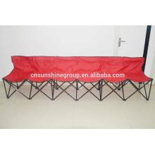 6 seaters camping cadeira com logotipo para promoção de dobramento