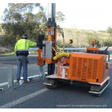 Motorista de pilha hidráulica do guardrail da estrada