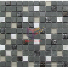 Mix Color Glass with Marble Mosaic (CS231)