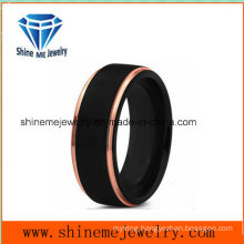 New Design Double Colors Men Popular 18k Black Plating Jewelry Ring