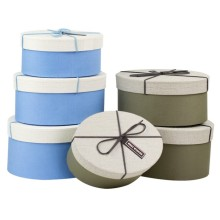 Oval rigid storage box in 3 size