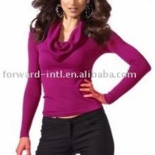 women's cowl neck cashmere sweater