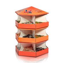 Lebensmittel Karton Display Rack, Cardoard Display Stand