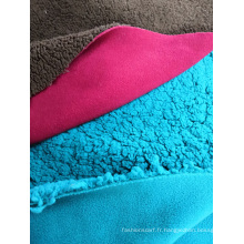 Molleton polaire 100% polyester lié au tissu Sherpa