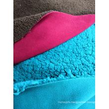 100% Polyester Polar Fleece Bonded with Sherpa Fabric