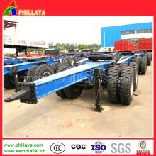 Complet 2 essieux timon 10 tonnes chariot remorque à sellette d'attelage