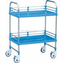 Zwei-Shelf Medical Instrument Trolley Für Krankenhaus