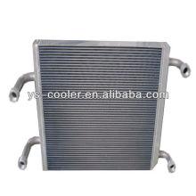 Intercooler de aleta de aluminio para maquinaria de construcción