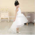 2016 new fashion short front long back real sample flower girl dress for western wedding
