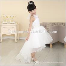 Vestido verdadero de la muchacha de flor de la muestra del frente largo trasero corto de la nueva moda 2016 para la boda occidental