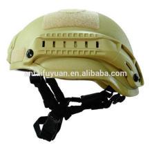 Ligero protector balístico militar y casco antibalas.