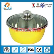 sistema de tazón de fuente de mezcla del acero inoxidable 6pcs multi del color, tazón de sopa chino