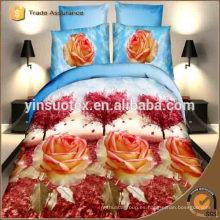Libre de la muestra doble dubai duvet de edredón cubierta 3d impreso conjunto de ropa de cama