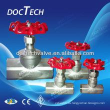 Mini rosca final ANSI Carbon acero inoxidable acero globo válvula 200WOG de distribuidor de China