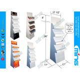 Single Sided Promotion Cardboard Display Stands With Four Shelf For Supermarket