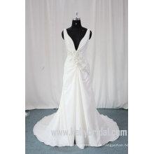 2010 último estilo de cuello en V una línea princesa vestido de boda (43053)
