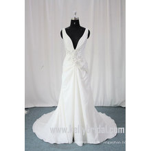 2010 Latest Style V-neck A-Line Princess Wedding Gown (43053)