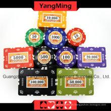 Conjunto de fichas de poker Clay Clay (760PCS) Ym-Sghg003