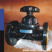 Flanged Ends Cast Handwheel Weir Type Diaphragm Valve