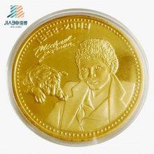 Suministre la moneda promocional del recuerdo del logotipo del regalo promocional del oro para Michael Jackson