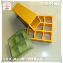 Rejilla moldeada de fibra de vidrio, rejilla de GRP / FRP
