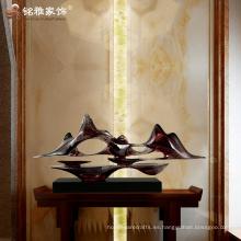 Artesanía abstracta moderna casera de la resina de la decoración del scuplture