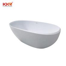 Flatbottom Non-Whirpool Freestanding Bathtub in Glossy White