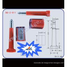 Hochsicherheits-Verschlussdichtung BG-Z-011 Hochsicherheits-Verschluss, Verschlussschraube, Hochsicherheits-Containerverschlussdichtung