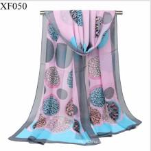 Newest design trend fashion print plain chiffon muslim scarf hijab