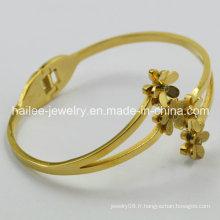 Bijoux fantaisie bracelet en acier inoxydable bracelet en fleur