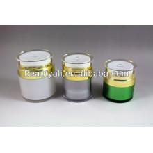 Plástico Acrilico Cosmético Creme Airless Jar 15ml 30ml 50ml