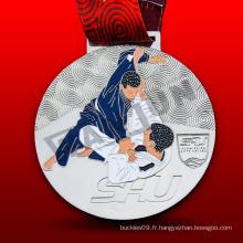 Médaille de Jiu-jitsu d'or en métal