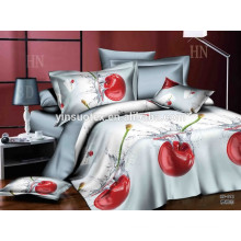 luxury bedding set King size 4pc 3D microfiber fleece bedding set